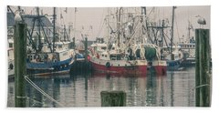 Beach Towel featuring the photograph Fishing Boats by Steve Stanger