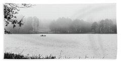 Fishing In The Fog Beach Sheet