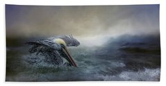 Fishing In The Storm Beach Towel