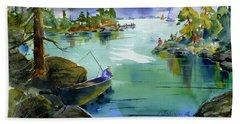 Fishing Lake Tahoe Beach Sheet