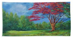 Flame Tree Beach Towel
