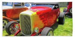Flamed Red 1932 Ford Roadster Beach Sheet