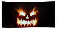 Flaming Pumpkin Beach Sheet