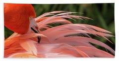 Flamingo Preening Beach Sheet