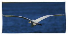 Flight Of The Egret Beach Towel