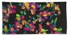 Floral Interpretation - Lantana Study Beach Towel