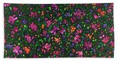 Floral Interpretation - Weedflowers Beach Towel
