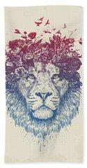 Floral Lion IIi Beach Towel