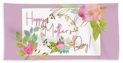 Floral Mother's Day Art Beach Sheet