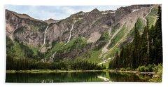 Floral Park Falls Monument Falls Avalanche Basin Falls Across Avalanche Lake Glacier National Park Beach Sheet
