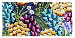 Floral Whimsy 2 Beach Sheet