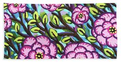 Floral Whimsy 3 Beach Sheet