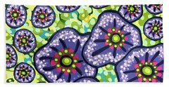 Floral Whimsy 4 Beach Sheet