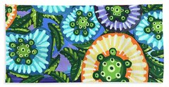 Floral Whimsy 6 Beach Towel