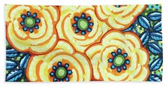 Floral Whimsy 7 Beach Towel