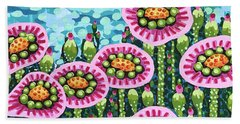 Floral Whimsy 8 Beach Sheet
