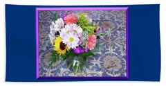 Flower Bouquet  Beach Towel