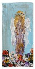 Flower Child Angel Beach Towel