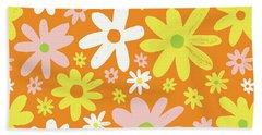 Flower Power Pattern Beach Towel