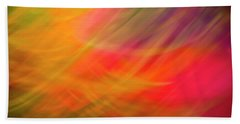 Flowers In Abstract Beach Towel