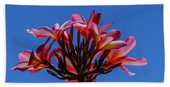 Flowers In Clear Blue Sky Beach Towel