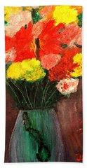 Flowers Still Life Beach Sheet