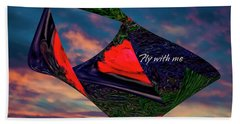 Fly With Me Beach Towel
