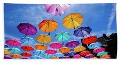 Flying Umbrellas II Beach Sheet