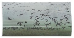 Foggy Arrival Beach Towel
