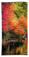 Foliage Over Forge Pond Beach Towel