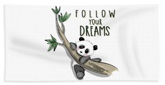 Follow Your Dreams - Baby Room Nursery Art Poster Print Beach Sheet