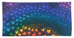 Follow Your Heart To Happiness Beach Towel