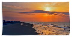 Folly Beach Sunrise Beach Towel