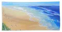 Footprints In The Sand Beach Sheet