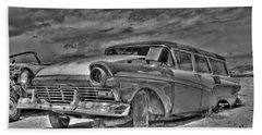 Ford Country Squire Wagon - Bw Beach Towel