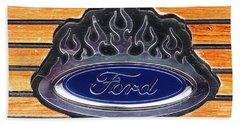 Ford Fire Beach Towel