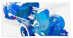 Ford Flathead Roadster Two Blue Pop Beach Towel