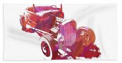 Ford Flathead Roadster Two Pop Beach Towel