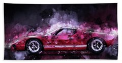 Ford Gt 40 Night Moves Beach Towel