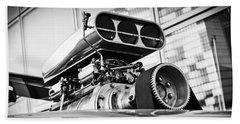 Ford Mustang Vintage Motor Engine Beach Towel