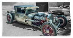 Ford Rat Rod Beach Towel