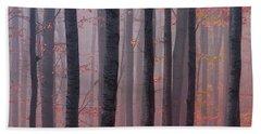 Forest Barcode Beach Towel