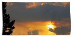 Forest Grove Solar Storm Beach Towel