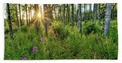Forest Growth Alaska Beach Towel