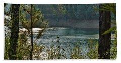 Forest Lake In Amendoa Beach Towel