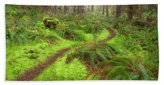 Beach Towel featuring the photograph Forest Path by Jacqui Boonstra
