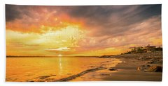 Beach Towel featuring the photograph Fort Foster Sunset Watchers Club by Jeff Sinon