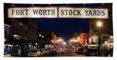 Fort Worth Stock Yards 112318 Beach Towel