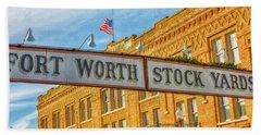 Fort Worth Stockyards #1 Beach Towel