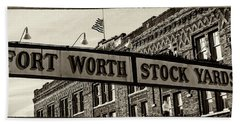 Fort Worth Stockyards #3 Beach Towel